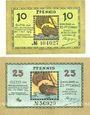 Banknotes Lindau i. B., Stadt, billets, 10 pf, 25 pf n.d. - 1.10.1919