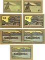 Banknotes Lindau i. B., Stadt, billets, 10 pf (2ex), 25 pf (2ex), 50 pf (3ex) n.d. - 1.10.1919