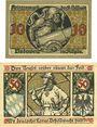 Banknotes Lindenberg i. Allgäu, Stadt, billets, 10 pf (numérotaion de 2,5mm de haut) 50 pf (numérotaion de 3mm