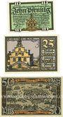 Banknotes Lingen, Stadt, billets, 10 pf n.d., 25 pf, 50 pf 1.4.1921