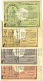 Banknotes Lippstadt, Stadt, billets, 10, 50, 100, 500 milliards mark 30.10.1923