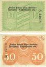 Banknotes Löbau, Stadt, billets, 10 pf, 50 pf n.d. - 31.12.1918
