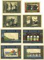 Banknotes Lobeda, Stadt, série de 8 billets, 10 pf, 25 pf (3ex), 50 pf  (4ex) 1921