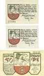 Banknotes Lorch, Stadt, série de 3 billets, 10 pf, 25 pf, 50  pf 20.8.1920.