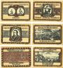 Banknotes Lörrach, Stadt, série de 6 billets, 50 pf (1922) (6 ex)