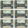 Banknotes Lübeck, Gothmund - Lübecker Fischermeister, billets, 50 pf (4ex), 75 pf (2ex) n.d. - 31.12.1921