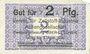 Banknotes Ober-Leschen (Leszno Gorne, Pologne), Verein für Zellstoff-Industrie, billet, 2 pf n.d. - 1.4.1920