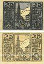 Banknotes Osterhofen. Stadt. Billets. 25 pfennig (2 ex) 27.1.1917