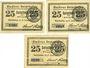 Banknotes Osterhofen, Stadt,  billets, 25 pfennig (3 ex) 27.1.1917