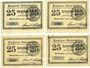 Banknotes Osterhofen, Stadt, billets, 25 pfennig (4 ex) 27.1.1917