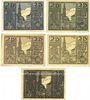 Banknotes Osterhofen, Stadt, série de 5 billets, 25 pfennig 27.1.1917