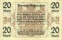 Banknotes Ostpreußen (Pologne, Russie, Lituanie), Provinzialverband, billet, 20 mark 10.12.1918