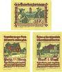 Banknotes Pries-Friedrichsort, Baugenossenschaft Eigenheim, billets, 25 pf, 50 pf, 1 mark (1922)