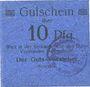 Banknotes Siemianowitz (Siemanowice, Pologne), Georgshütte, billet, 10 pf n.d., avec cachet violet