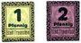 Banknotes Traunstein, Stadt, billets, 1 pf, 2 pf (1920)