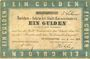 Banknotes Allemagne. Kaiserslautern Stadt. Darlehenscheine. Billet. 1 gulden 31.7.1870