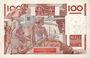 Banknotes Banque de France. Billet. 100 francs jeune paysan, 11.7.1946