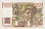 Banknotes Banque de France. Billet. 100 francs jeune paysan, 18.4.1946