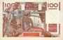 Banknotes Banque de France. Billet. 100 francs jeune paysan, 3.4.1947