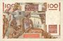 Banknotes Banque de France. Billet. 100 francs jeune paysan, 4.3.1954