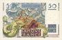 Banknotes Banque de France. Billet. 50 francs Le verrier, 17.2.1949