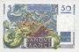 Banknotes Banque de France. Billet. 50 francs Le Verrier 2.10.1947
