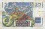 Banknotes Banque de France. Billet. 50 francs Le Verrier, 2.5.1946