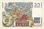Banknotes Banque de France. Billet. 50 francs Le Verrier, 24.8.1950