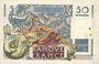 Banknotes Banque de France. Billet. 50 francs Le Verrier, 31.5.1946