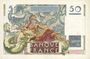 Banknotes Banque de France. Billet. 50 francs Le Verrier, 7.6.1951