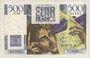 Banknotes Banque de France. Billet. 500 francs, Chateaubriand, 12.9.1946