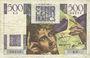 Banknotes Banque de France. Billet. 500 francs, Chateaubriand, 19.7.1945