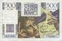 Banknotes Banque de France. Billet. 500 francs, Chateaubriand, 4.9.1952