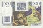 Banknotes Banque de France. Billet. 500 francs, Chateaubriand, 6.9.1945