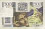 Banknotes Banque de France. Billet. 500 francs, Chateaubriand, 7.11.1945