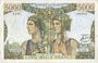 Banknotes Banque de France. Billet. 5000 francs, Terre et Mer, 2.10.1952
