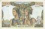 Banknotes Banque de France. Billet. 5000 francs, Terre et Mer, 5.4.1951