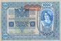 Banknotes Autriche. Banque Austro-Hongroise. Billet. 1000 couronnes (1919) surchargé sur billet du 2.1.1902