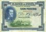 Banknotes Espagne. Banque d'Espagne. Billet. 100 pesetas 1.7.1925