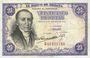 Banknotes Espagne. Banque d'Espagne. Billet. 25 pesetas 19.2.1946