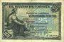 Banknotes Espagne. Banque d'Espagne. Billet. 25 pesetas 24.9.1906
