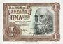 Banknotes Espagne, billet, 1 peseta 22.7.1953
