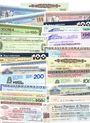 Banknotes Italie. Lot de 25 mini-assignats (assegno)