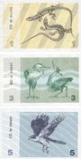 Banknotes Lituanie. Billets. 1, 3, 5 (talonas) 1991