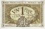 Banknotes Monaco. Billet. 1 franc 20.3.1920, série B