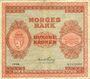 Banknotes Norvège. Billet. 100 couronnes 1948, série B