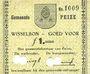 Banknotes Pays Bas. Commune (Gemeente) Peize. Billet. 1 gulden (mai 1940)