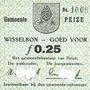 Banknotes Pays Bas. Commune (Gemeente) Peize. Billet. 25 cent (mai 1940)