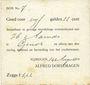 Banknotes Pays Bas. Nimègue (Nijmegen). Alfred Dorsemagen. 5 gulden 22 cent 14.8.1914