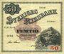 Banknotes Suède. Billet. 50 couronnes 1958